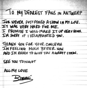 beyonce apology note